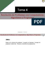 REsolucion de problemas y algoritmos