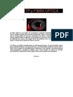 CABLE UTP y FIBRA OPTICA
