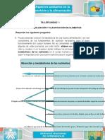 Conceptualizacion y clasificacion de alimentos