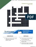 Imprimir Crucigrama_ Fundadores de la sociología (historia - 3º - Educación secundaria (6+6) - sociología)