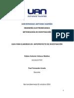 DEFINICION DE LAS PARTES DE UN ANTEPROYECTO DE INVESTIGACION
