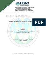CUADRO COMPARATIVO SOBRE ADMINISTRACIÓN Y FINANZAS