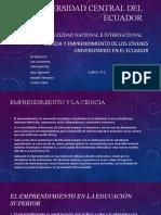 Ciencia y emprendimiento de los jóvenes universitarios en el ecuador