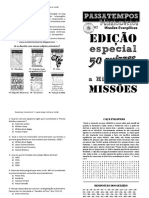 Revista Passatempos Missionarios 7 - Quizzes sobre a História de Missões