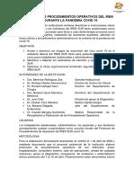 protocolo de procedimientos operativos del IREN SUR durante la pandemia  covid