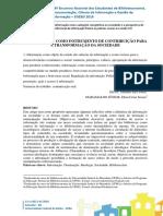 informação como instrumento de contribuição para a transformação da sociedade, A