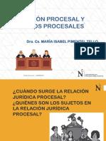 Relacion procesal y sujetos procesales