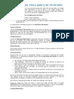 PARTES DEL TECLADO Y SU FUNCIÓN
