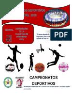 Bases y Reglamentos de Futsal-xli Aniversario de La Facultad de Ingenieria Civil