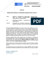 2020IE0003939 CIRCULAR APLICACIÓN APLICACIÓN DEL DECRETO LEGISLATIVO No. 568 DE 2020 IMPUESTO SOLIDARIO - APORTE VOLUNTARIO COVID-19