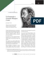 Homenaje a Gonzalo Márquez Cristo