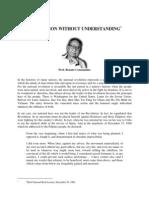 Renato no - Veneration Without Understanding