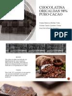 Chocolatina oricaldas 98% puro CACAO