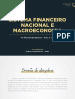PUC RS Sistema financeiro nacional e Macroeconomia -aula-01