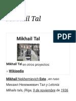 Mikhail Tal _ sus jugadas verbales