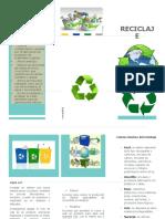 Beneficios Del Reciclaje Folleto