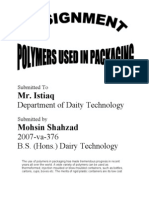 Polymers Used in Food Packaging