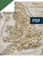 Map of Britannia in the Age of Arthur