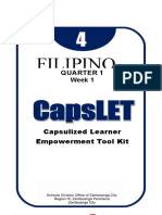 CAPSLET-FILIPINO subject