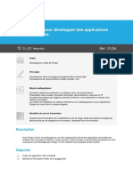 Programme Flutter et Dart pour développer des applications multiplateformes(1)