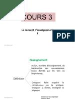 EDI 414 Cours 3  Le concept  enseignement 1