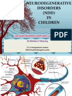 Neurodegenerative Disorders by Dr.mohan t Shenoy