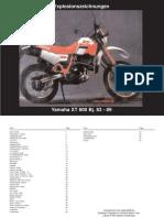 1990 yamaha xt600 e factory service manual screw carburetor rh es scribd com Yamaha XT600 Custom 1989 Yamaha Xt600
