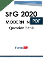 Forum IAS SFG 2020 Modern India Question Bank