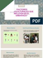 FACTORES SOCIOCULTURALES QUE INFLUYEN EN EL EMBARAZO