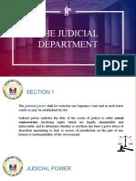 JUDICIAL DEPT REPORT