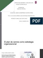 El plan de carrera como estrategia organizacional