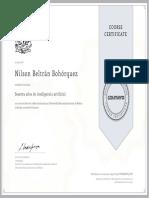 Certificado curso Sesenta años de inteligencia artificial