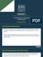 Slides de Aula – Unidade II