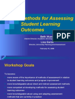 Methods for Assessing Workshop