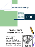 Globalisasi Sosial-Budaya