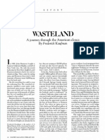 WASTELAND a Journey Through the American Cloaca by Frederick Kaufman