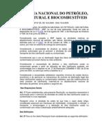 Resolução ANP -20.2009 - Atividade de Coleta