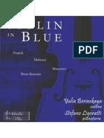 ClassicaViva - Booklet CD Violin in Blue - Yulia Berinskaya, violin, Stefano Ligoratti, piano