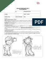 personal information 1ºbásicos Inglés