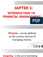 CHAPTER 1 INTRODUCTION TO FIN MAN