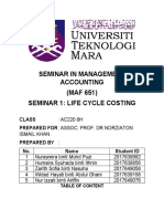 LIFE CYCLE COSTING (8H)