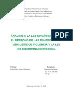 ANALISIS DE LA LEY ORGANICA DE LA MUJER Y DISCRIMINACION RACIAL