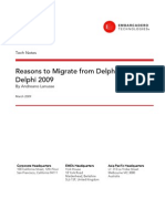 Reasons to Migrate From Delphi 7 to Delphi 2009 White Paper Final
