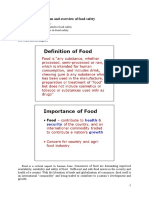 Module 1 Introduction and Overview of Food Safety V1