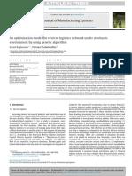 2. An optimization model for reverse logistics network under stochastic env using GA