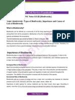 Biodiversity-UPSC-Notes-GS-III
