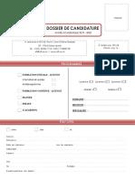 DOSSIER DE CANDIDATURE - AFI 2019 2020