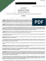 Ley 16749 Mercado de Valores - Uruguay