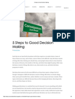 5 Steps to Good Decision Making