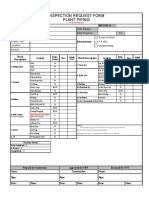 Inspection Request Form Plant Piping
